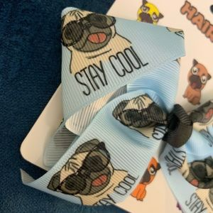 Other - NWT (2) Pug hair bows with adorable sayings